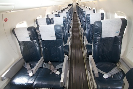 Inside of Rotana Jet's Embraer aircraft