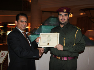 awarded by Dubai Civil Defence for Excellence in Health Safety