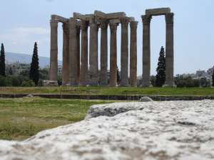 The Temple of Olympian Zeus Athens